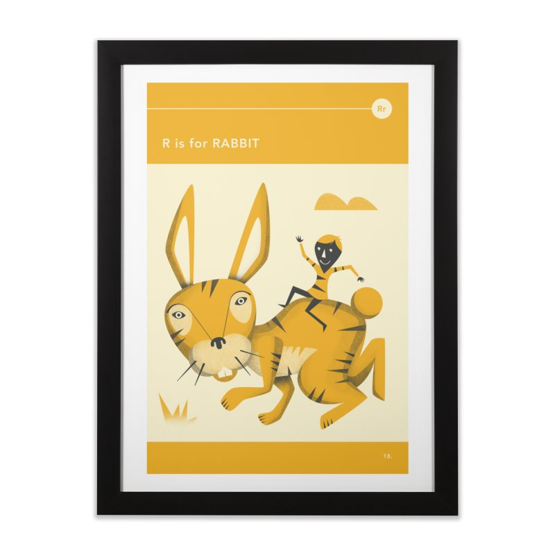 R IS FOR RABBIT Home Framed Fine Art Print by Jazzberry Blue's Artist Shop