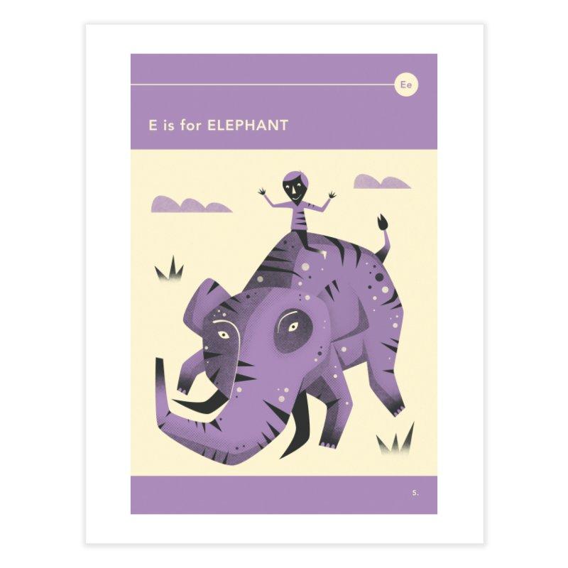 E IS FOR ELEPHANT in Fine Art Print by Jazzberry Blue's Artist Shop