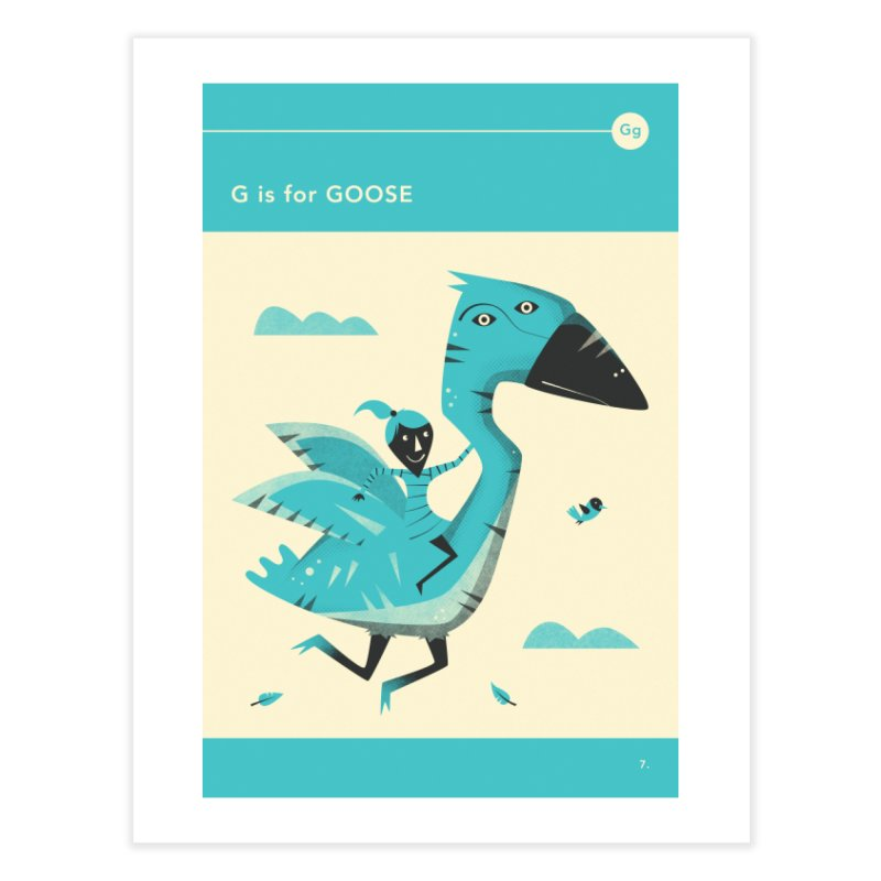 G IS FOR GOOSE Home Fine Art Print by Jazzberry Blue's Artist Shop