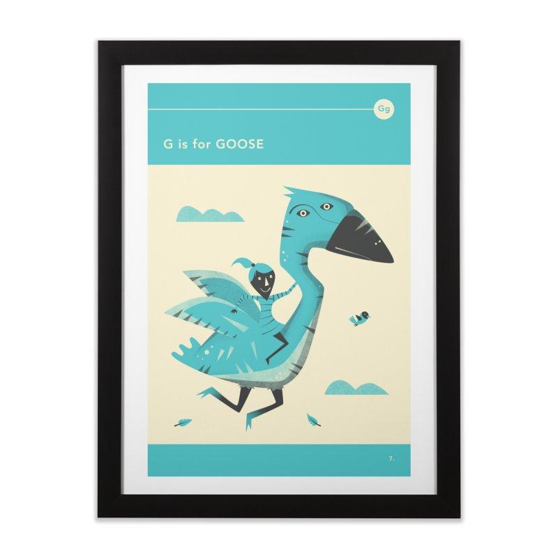 G IS FOR GOOSE Home Framed Fine Art Print by Jazzberry Blue's Artist Shop