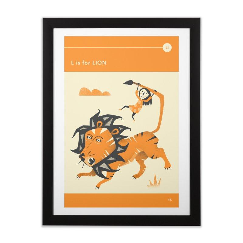L IS FOR LION Home Framed Fine Art Print by Jazzberry Blue's Artist Shop
