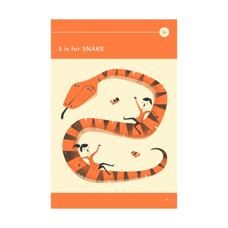 S IS FOR SNAKE Home Fine Art Print by Jazzberry Blue's Artist Shop