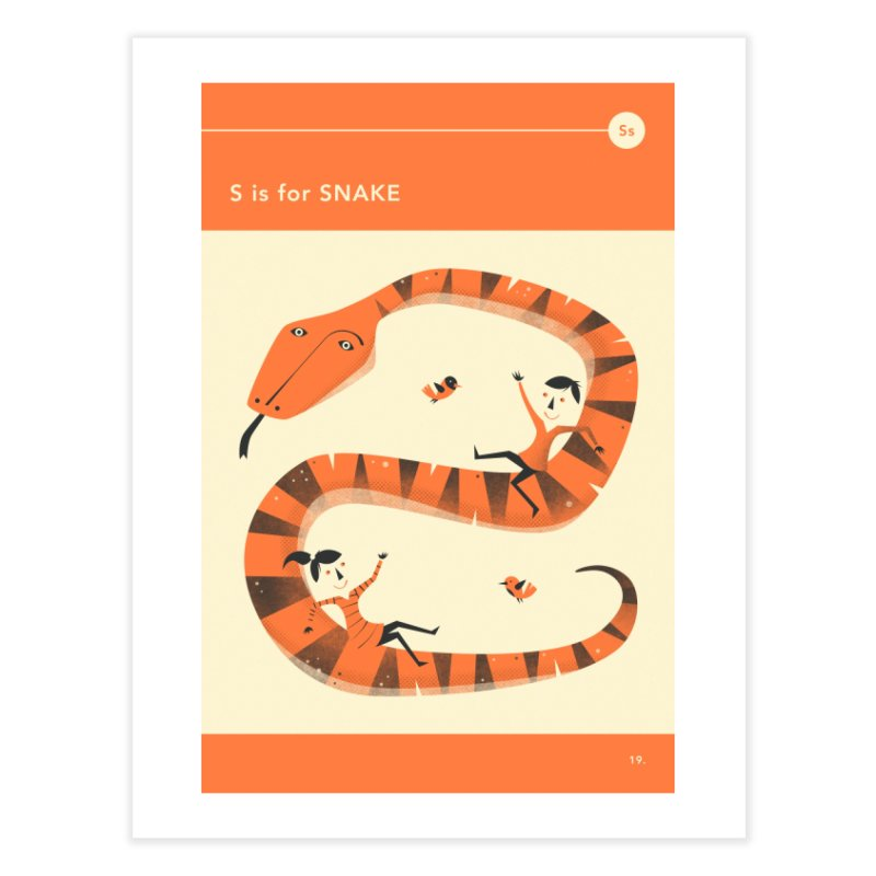 S IS FOR SNAKE in Fine Art Print by Jazzberry Blue's Artist Shop