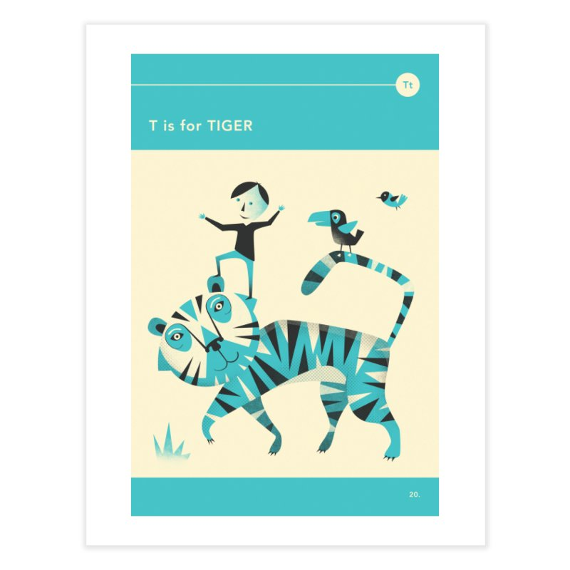 T IS FOR TIGER in Fine Art Print by Jazzberry Blue's Artist Shop