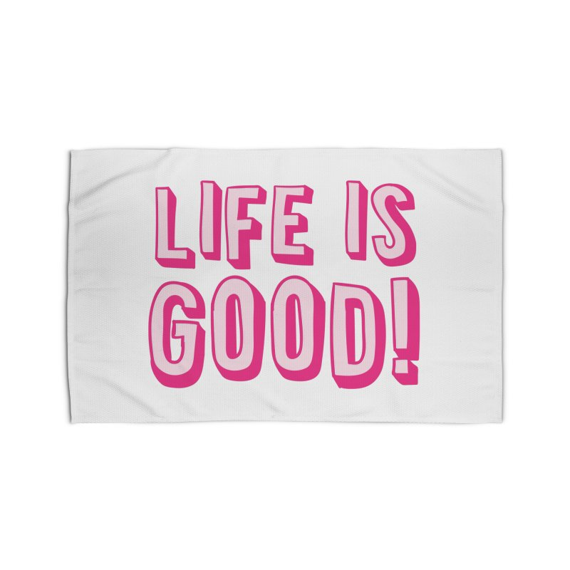 LIFE is good! Home Rug by JAZZYDEVIL DESIGNZ