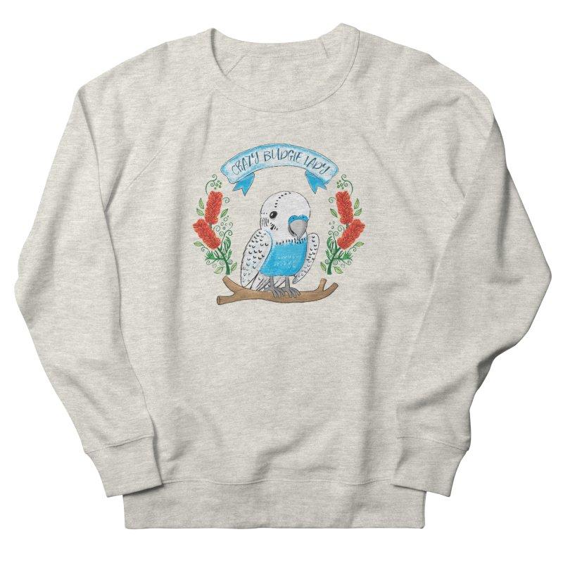 Crazy Budgie lady Men's Sweatshirt by JAZZYDEVIL DESIGNZ