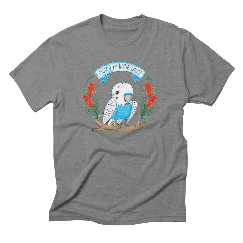 Crazy Budgie lady Men's Triblend T-shirt by JAZZYDEVIL DESIGNZ