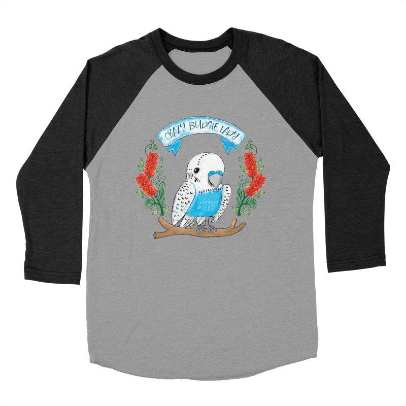 Crazy Budgie lady Men's Baseball Triblend T-Shirt by JAZZYDEVIL DESIGNZ