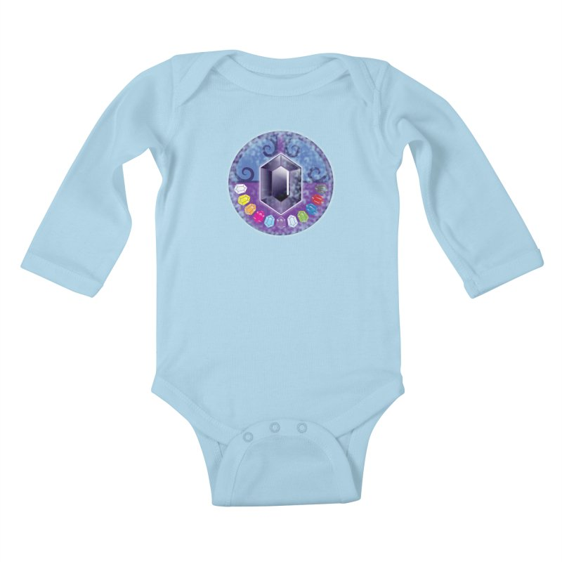The Black Jewels Kids Baby Longsleeve Bodysuit by JAZZYDEVIL DESIGNZ