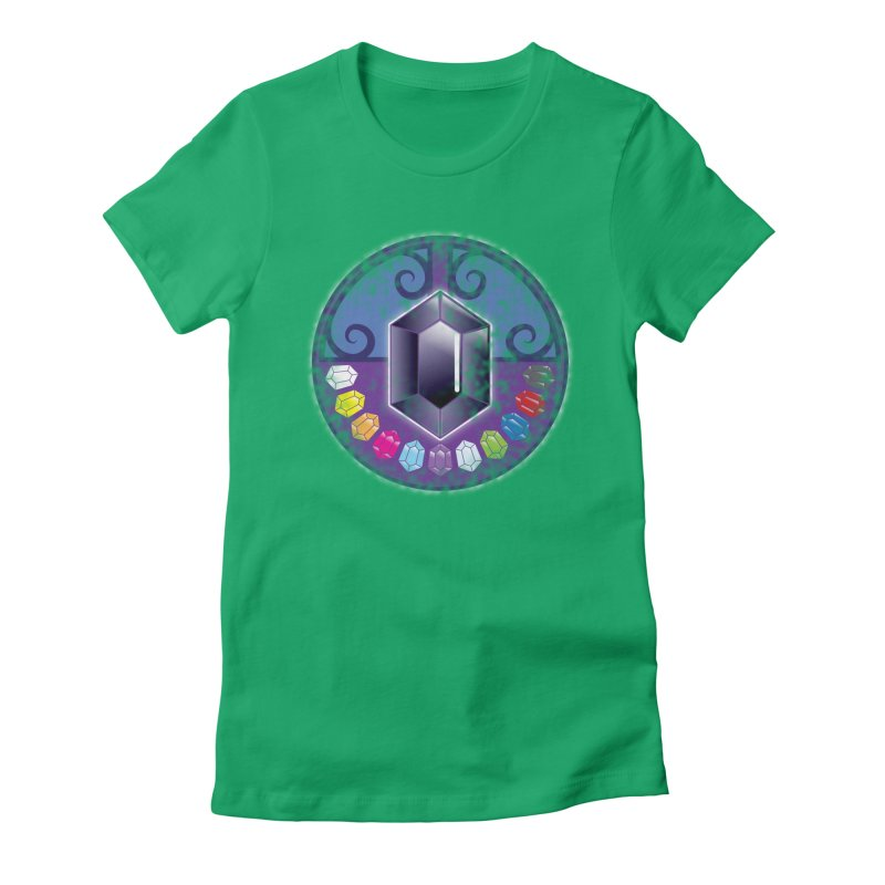 The Black Jewels Women's Fitted T-Shirt by JAZZYDEVIL DESIGNZ