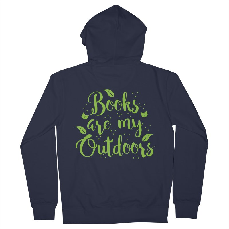 Books are my outdoors Men's Zip-Up Hoody by JAZZYDEVIL DESIGNZ