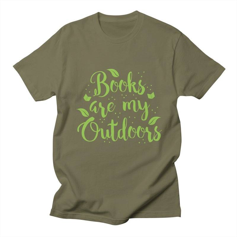 Books are my outdoors Men's T-shirt by JAZZYDEVIL DESIGNZ