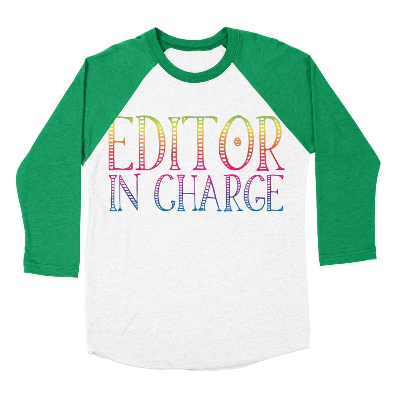 Editor in charge Women's Baseball Triblend T-Shirt by JAZZYDEVIL DESIGNZ
