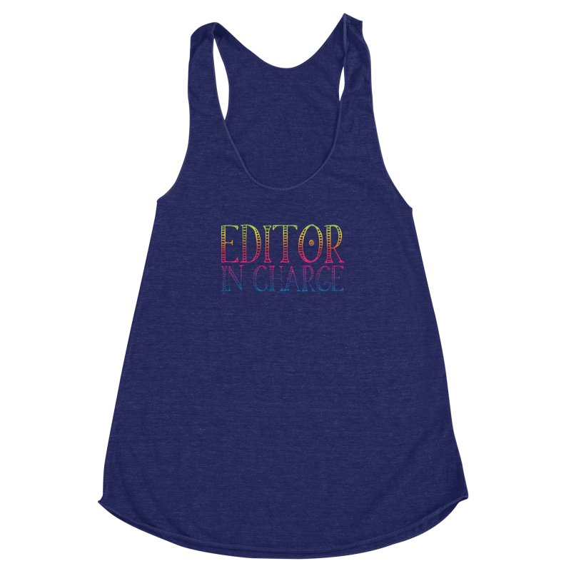 Editor in charge Women's Racerback Triblend Tank by JAZZYDEVIL DESIGNZ