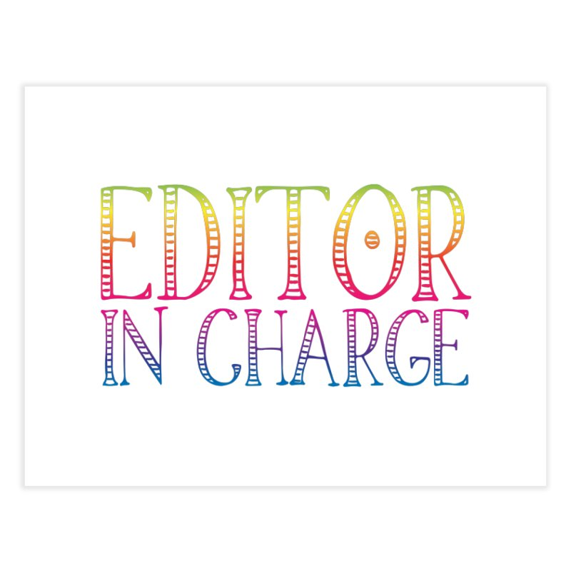 Editor in charge Home Fine Art Print by JAZZYDEVIL DESIGNZ