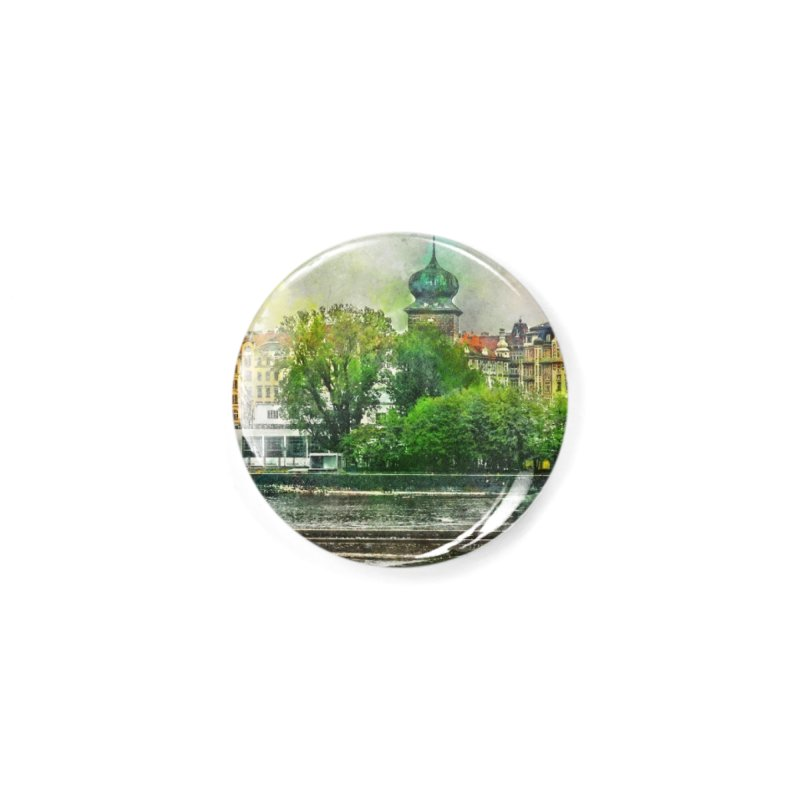 Praha city art #praha #prague Accessories Button by jbjart Artist Shop