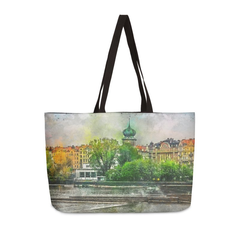 Praha city art #praha #prague Accessories Weekender Bag Bag by jbjart Artist Shop
