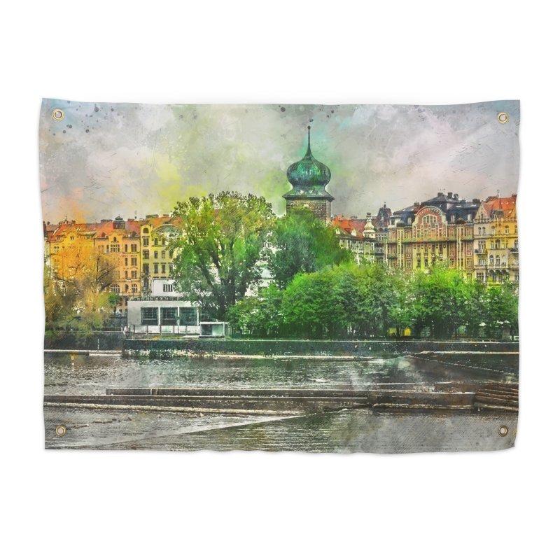 Praha city art #praha #prague Home Tapestry by jbjart Artist Shop