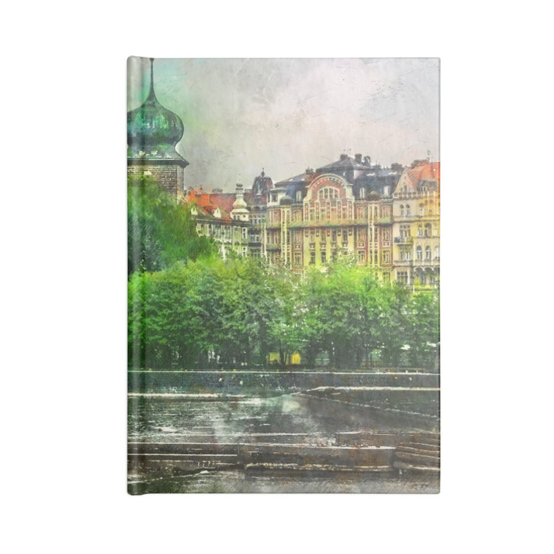 Praha city art #praha #prague Accessories Lined Journal Notebook by jbjart Artist Shop