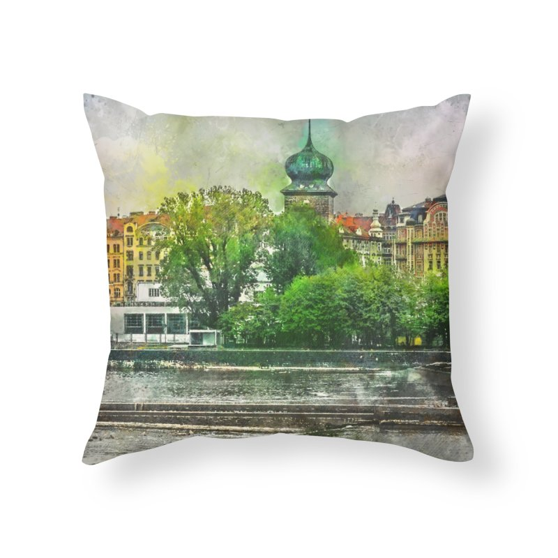 Praha city art #praha #prague Home Throw Pillow by jbjart Artist Shop