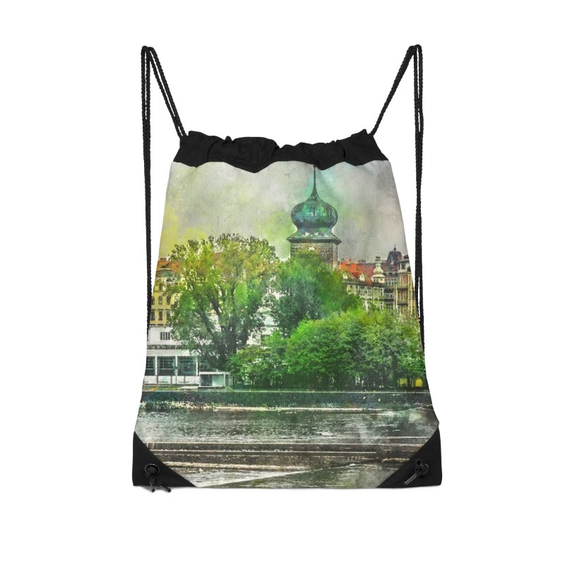 Praha city art #praha #prague Accessories Drawstring Bag Bag by jbjart Artist Shop