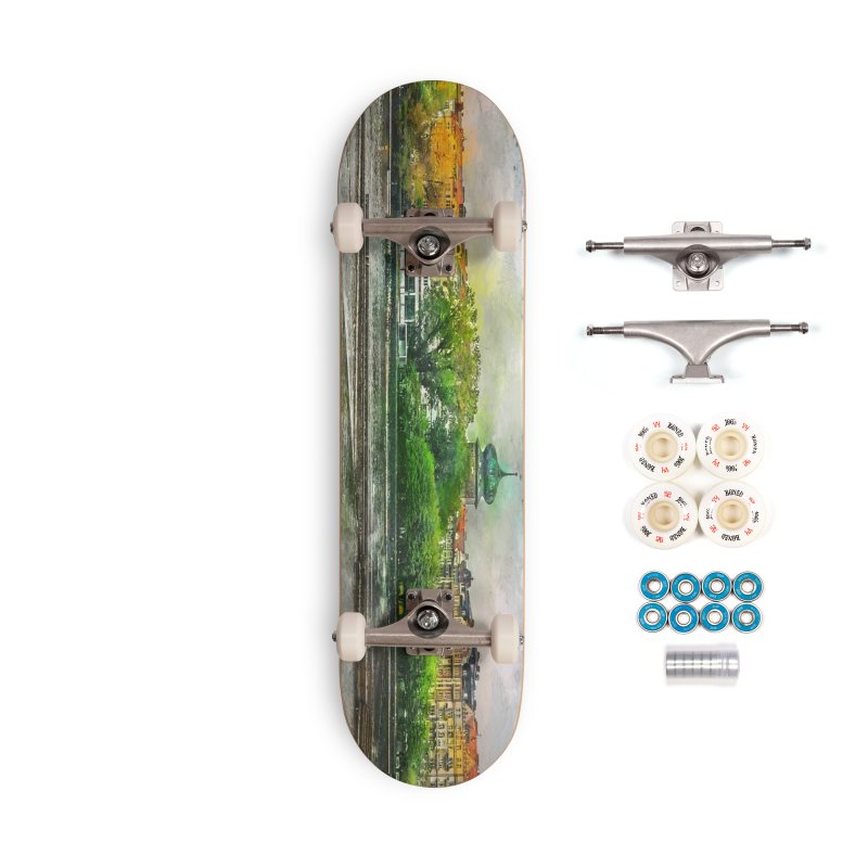 Praha city art #praha #prague Accessories Complete - Premium Skateboard by jbjart Artist Shop