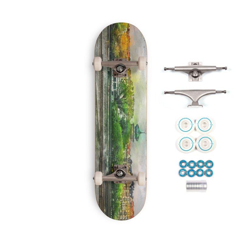 Praha city art #praha #prague Accessories Complete - Basic Skateboard by jbjart Artist Shop
