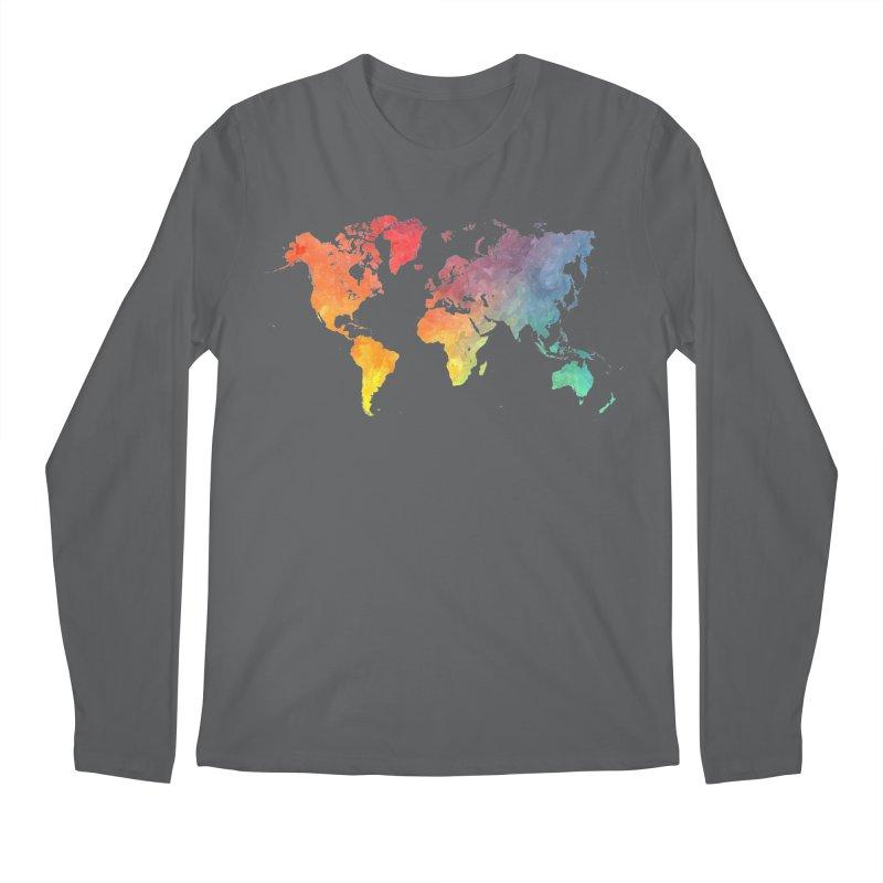world map Men's Longsleeve T-Shirt by jbjart Artist Shop