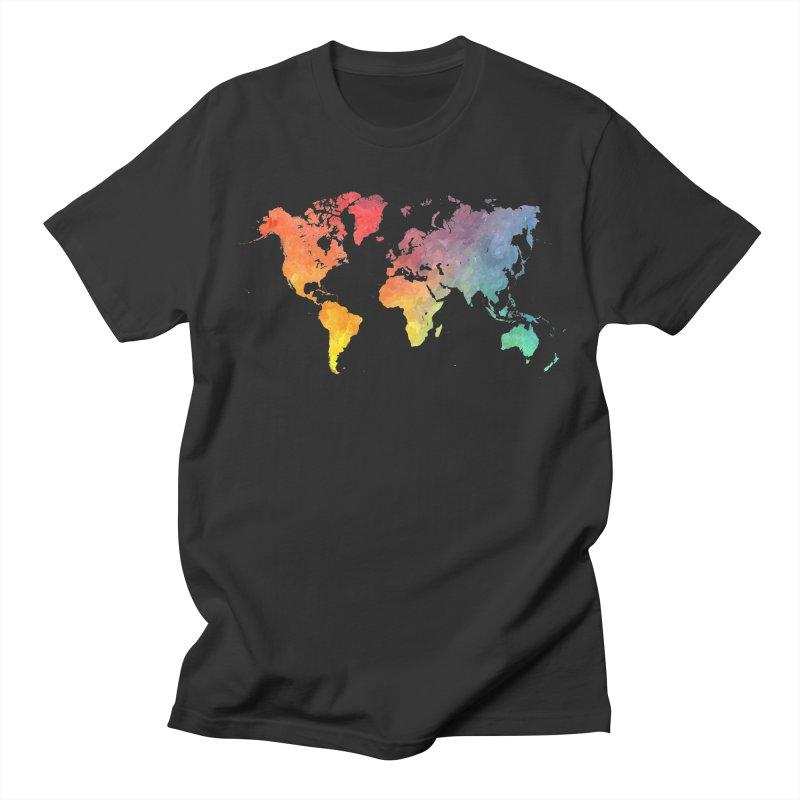 world map Men's T-Shirt by jbjart Artist Shop