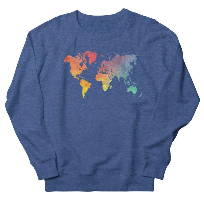 world map Men's Sweatshirt by jbjart Artist Shop