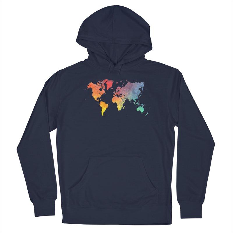 world map Men's Pullover Hoody by jbjart Artist Shop