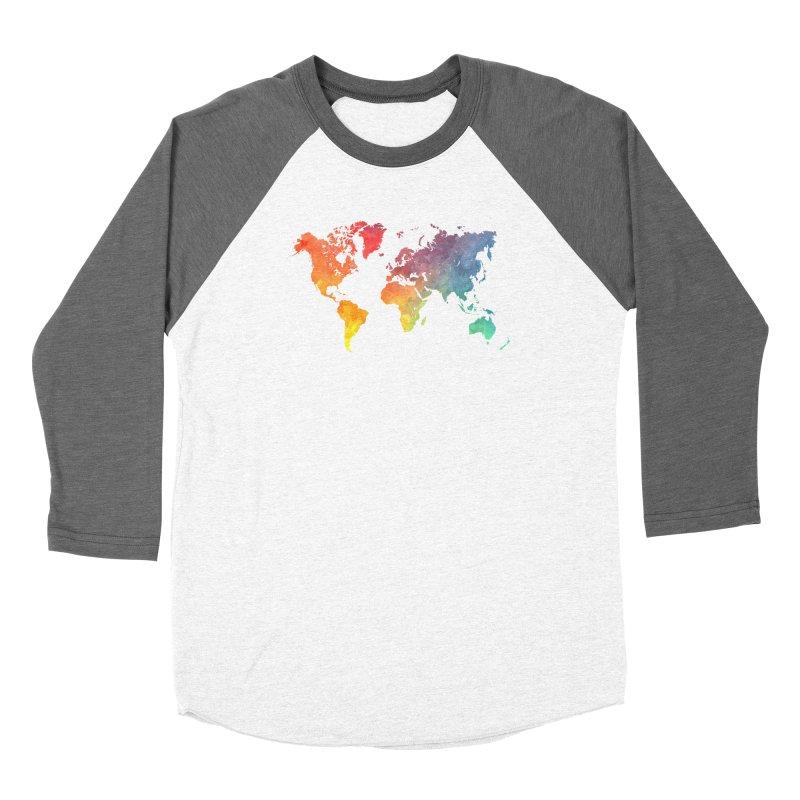 world map Women's Longsleeve T-Shirt by jbjart Artist Shop