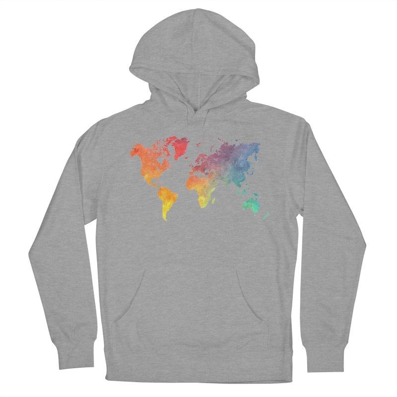 world map Women's French Terry Pullover Hoody by jbjart Artist Shop