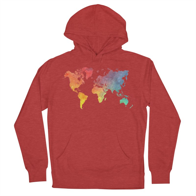world map Women's French Terry Pullover Hoody by jbjart Artist Shop