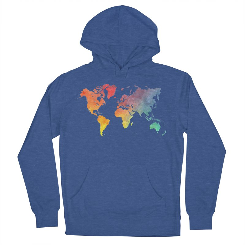 world map Men's French Terry Pullover Hoody by jbjart Artist Shop