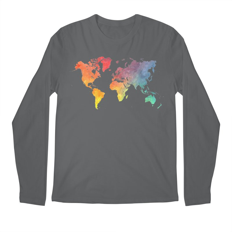 world map Men's Longsleeve T-Shirt by jbjart Artist Shop
