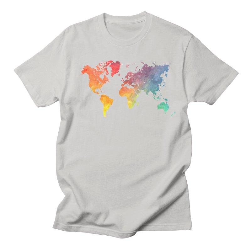 world map Men's Regular T-Shirt by jbjart Artist Shop