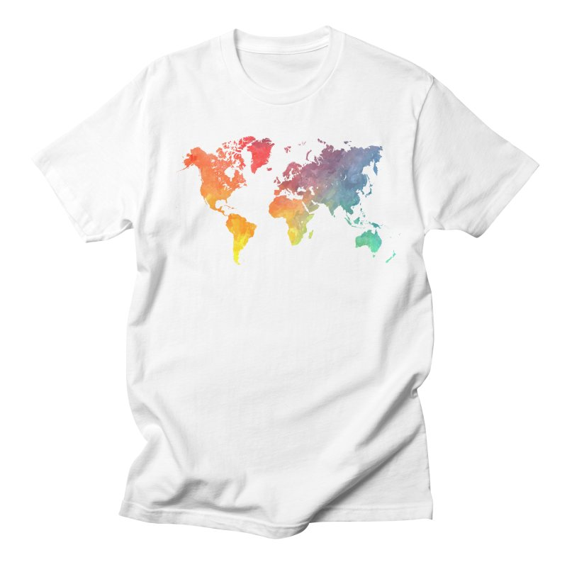 world map Men's Regular T-Shirt by jbjart Artist Shop