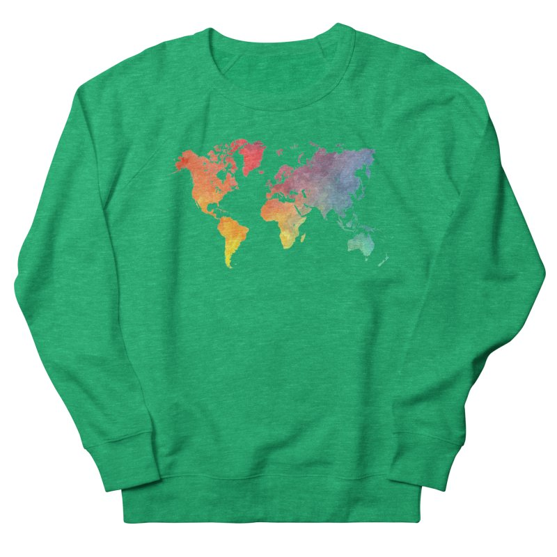 world map Women's Sweatshirt by jbjart Artist Shop
