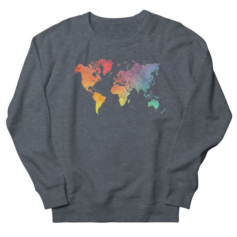 world map Women's French Terry Sweatshirt by jbjart Artist Shop