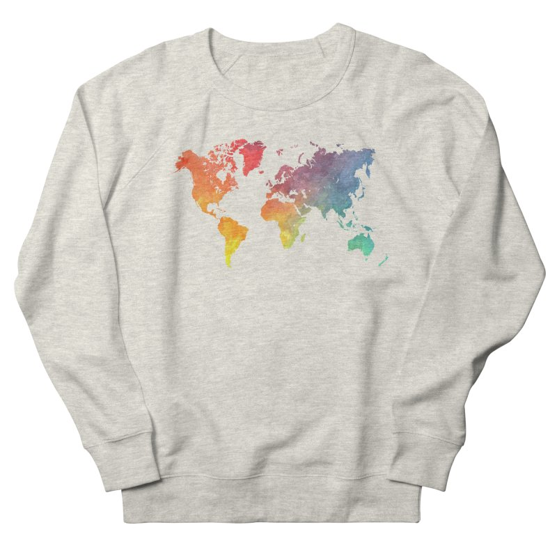 world map Women's French Terry Sweatshirt by jbjart Artist Shop