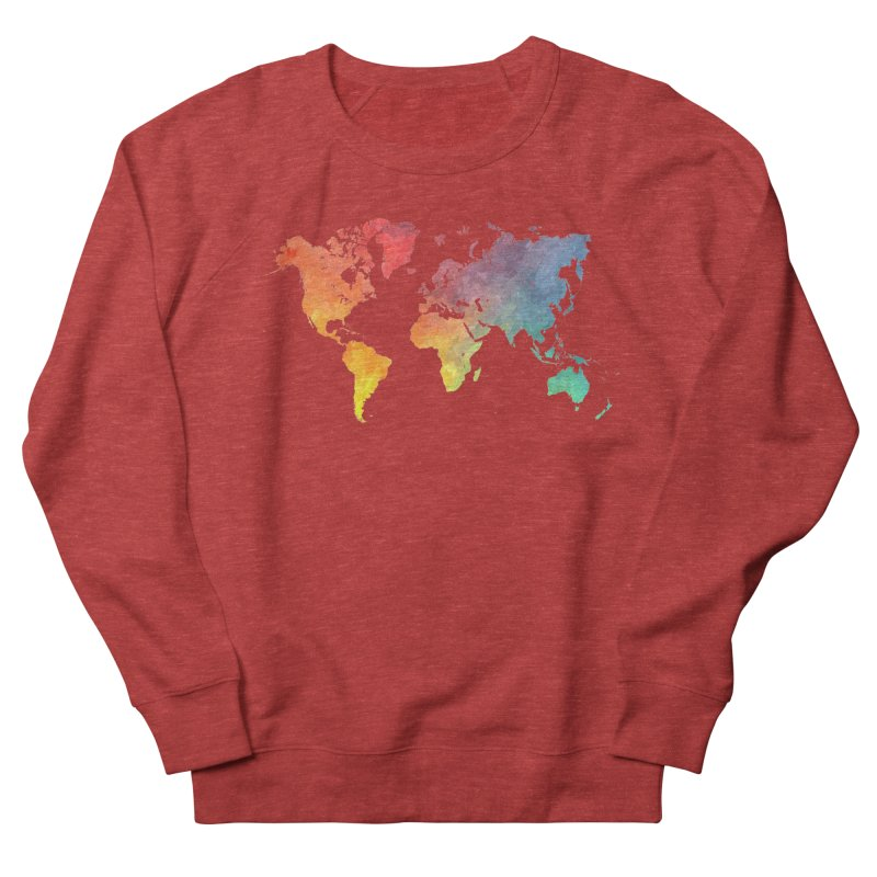 world map Men's French Terry Sweatshirt by jbjart Artist Shop