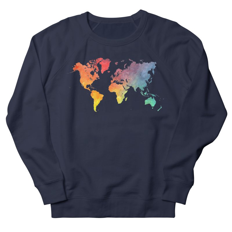 world map Men's French Terry Sweatshirt by jbjart Artist Shop
