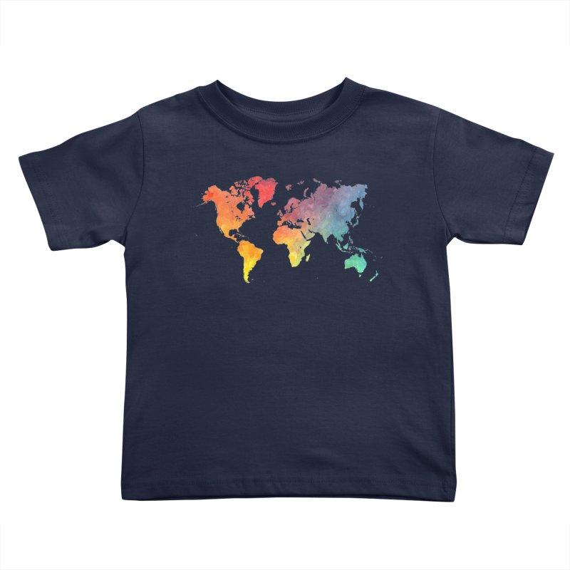 world map Kids Toddler T-Shirt by jbjart Artist Shop