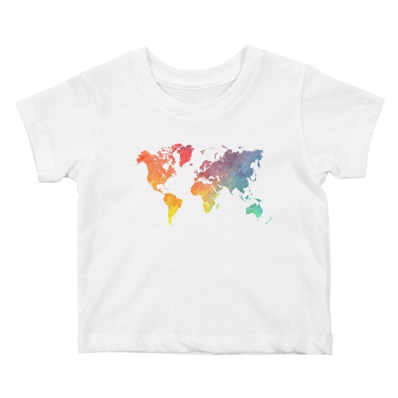 world map Kids Baby T-Shirt by jbjart Artist Shop