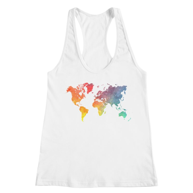 world map Women's Racerback Tank by jbjart Artist Shop