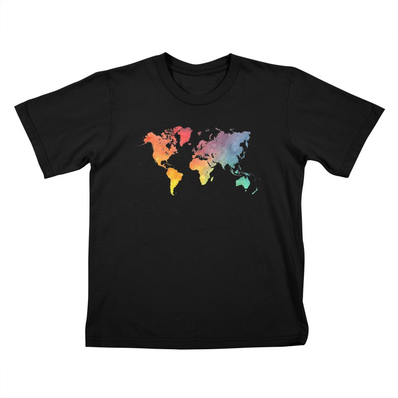 world map Kids T-Shirt by jbjart Artist Shop