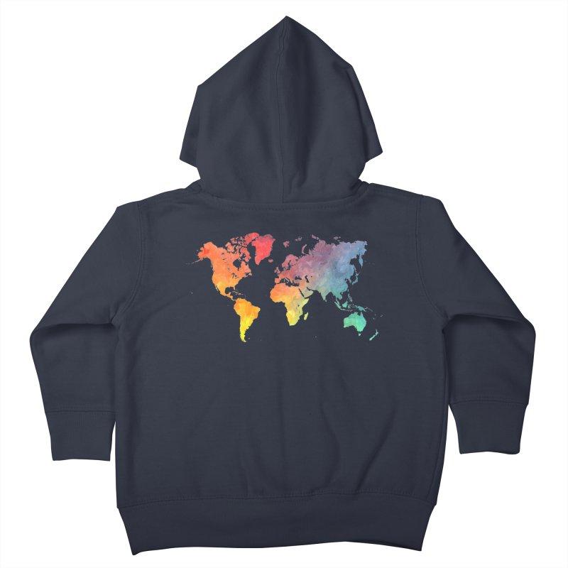 world map Kids Toddler Zip-Up Hoody by jbjart Artist Shop