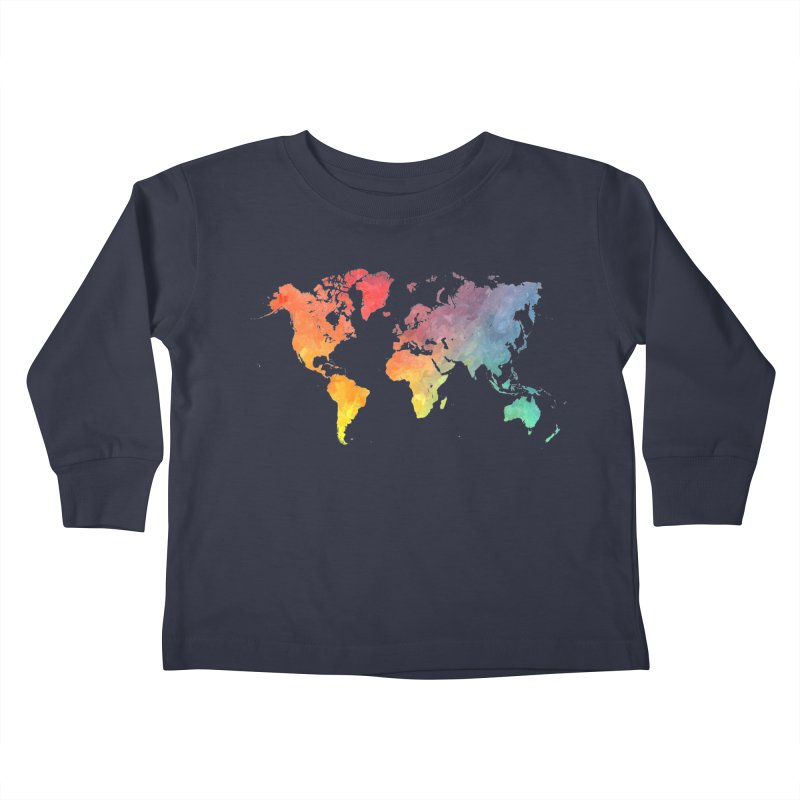 world map Kids Toddler Longsleeve T-Shirt by jbjart Artist Shop