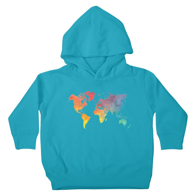 world map Kids Toddler Pullover Hoody by jbjart Artist Shop